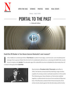 "Screenshot of ""N"" magazine showing article titled ""Portal to the Past"""
